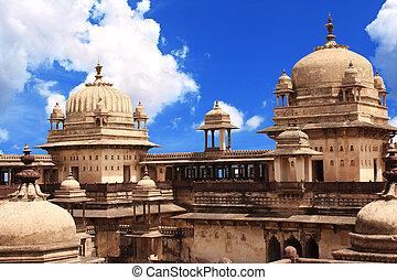 Palace in Orcha, Madhya Pradesh state, India - Royal palace...
