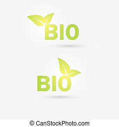 Ecology bio icon. Vector