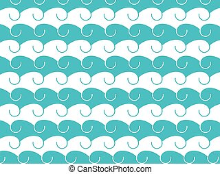 Waves, abstract background with hand-drawn waves. Vector illustration