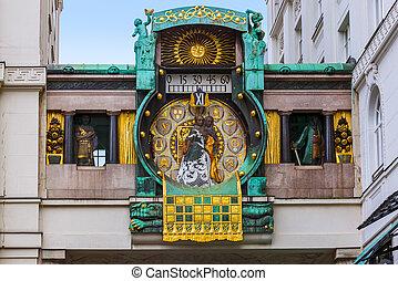 Ankeruhr Clock in Hoher Markt - Vienna Austria - Famous...