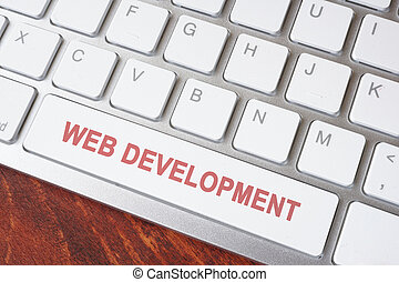 Button of keyboard with Web development.