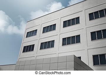 bâtiment, bureau, moderne, grand,  architecture, constitué