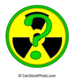 Nuclear Energy Issues - Atomic icon with green question...
