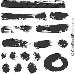 Brush Strokes Set 01 - This image is a illustration and can...