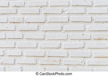 White brick wall background for old vintage background concept