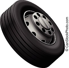 Lorry fore wheel