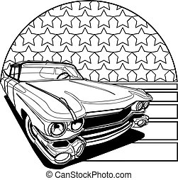 American Style Badge black and white