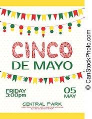 Cinco de mayo invitation poster. Mexican party