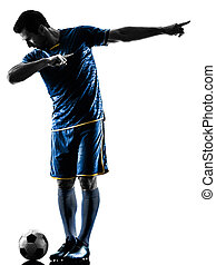 soccer player man happy celebration silhouette isolated