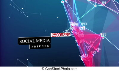 Abstract concept of Social Media Network with main text...