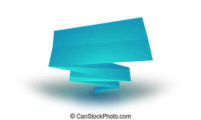 Paper banner with place for your text - Animation of paper...