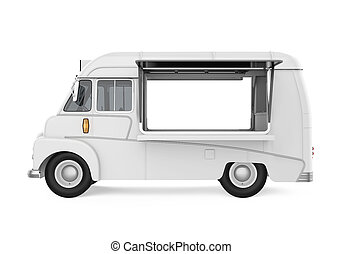 Food Truck Isolated