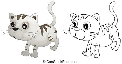 Animal outline for cute cat