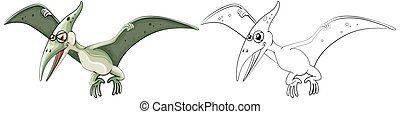 Animal outline for pterosaur illustration