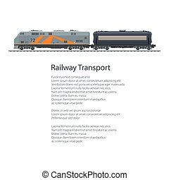 Poster Locomotive with Tank Car - Poster Locomotive with...