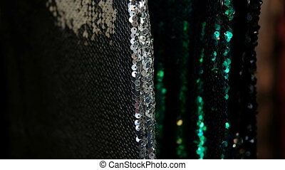 Close shooting of Long short dresses with sparkling decor...