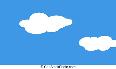 Skies with clouds comic loopable background - Shot of Skies...
