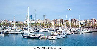 Many yachts lying at Port - Many yachts in the sea. This...