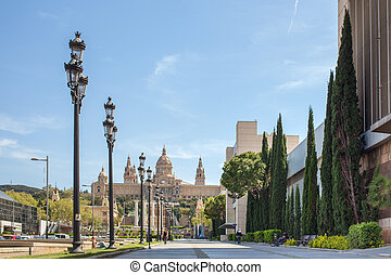 National museum of Catalan visual art situated on Montjuic...