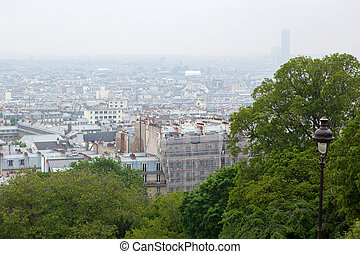 view on Paris from top of Montmartre