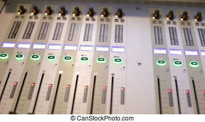 Sound mixer and amplifier equipment at a concert