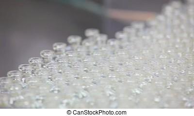 Pharmaceutical Industry Production. - Pharmaceutical Bottles...