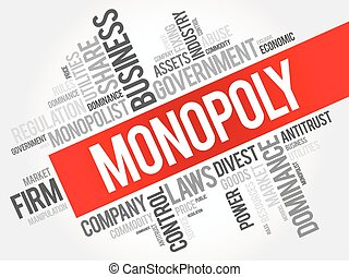 Monopoly word cloud collage, business concept background