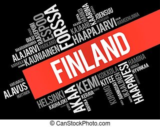 villes, finlande, liste, villes