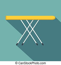 Ironing board icon, flat style - Ironing board icon. Flat...