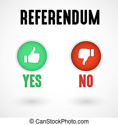 Referendum Yes and No Buttons