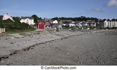 Criccieth beach and seafront North Wales - Criccieth beach...