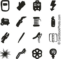 Welding Icons Freehand Fill - This image is a illustration...