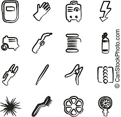 Welding Icons Freehand - This image is a illustration and...