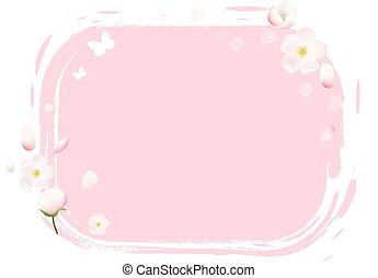 Pink Stain With Flowers