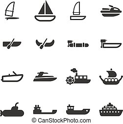 Water Transport Icons - This image is a illustration and can...