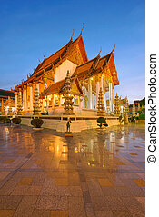 Wat Suthat at Sunset, Bangkok, Thailand