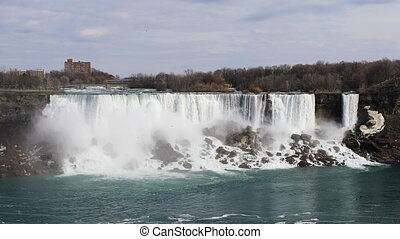 The American Falls on a warm spring day - American Falls on...