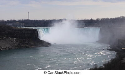 The Horseshoe Falls on a warm spring day - Horseshoe Falls...