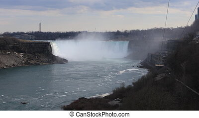 The Horseshoe Falls on a beautiful spring day - Horseshoe...