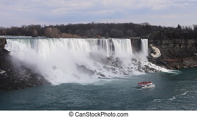 The American Falls on a beautiful day - American Falls on a...