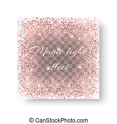 Glowing pink background - Sequins background with shining...
