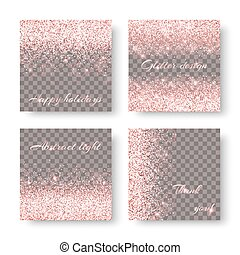 Bokeh pink background - Glitter sparkle background with...