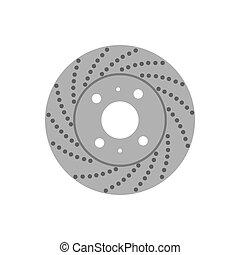 brake disk illustration - brake disk on the white...