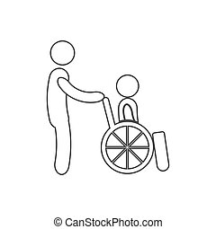 disabled icon vector - disabled icon on the white...