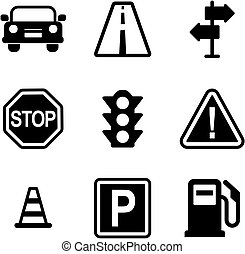 Traffic Icons - This image is a illustration and can be...