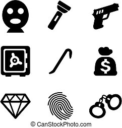 Thief Icons - This image is a illustration and can be scaled...