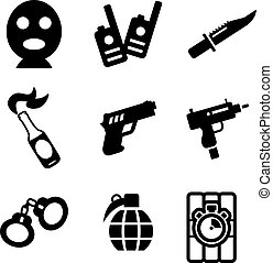 Terrorist Icons - This image is a illustration and can be...