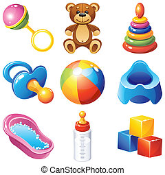 Baby icons - Vector illustration - baby icons set