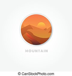 Mountain nature symbol vector