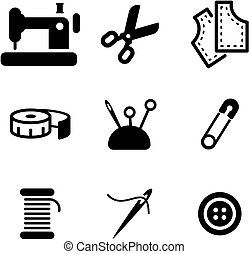 Tailor Shop Icons - This image is a illustration and can be...